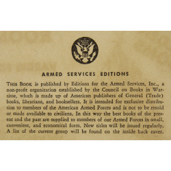 Novel, US Army, World's Great Tales of the Sea, 1944