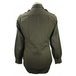 Shirt, Wool elastique, Drab, Officer's, Chocolate, USAAF