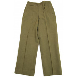 Trousers, Wool, OD, Officer, Size 28