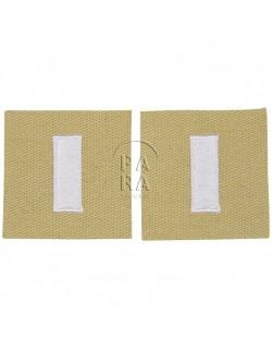 Paire de grades en tissu de 1er lieutenant