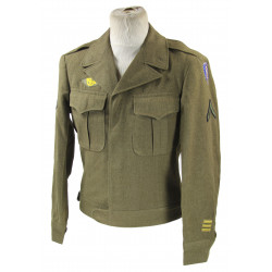 Jacket, Ike, Pfc. Robert Jacobs, 8th Infantry Division