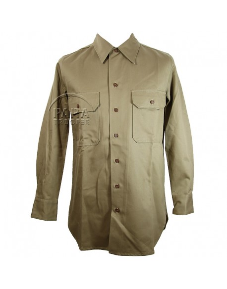 Shirt, Cotton, Khaki (chino)