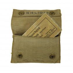 Pouch, First Aid, M-1910, R.H.L., 1918, with First Aid Packet