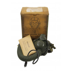 Mask, Oxygen, Type A-14, 1944, Bulbulian + Microphone and Box