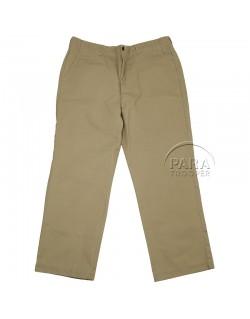 Pantalon en coton beige (chino)