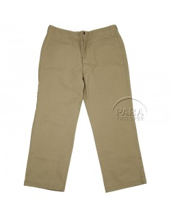 Trousers, Cotton, Khaki (chino)