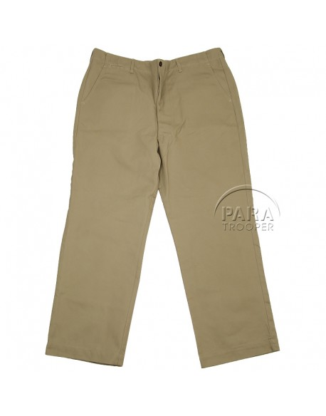 Trousers, Cotton, Khaki (chino)