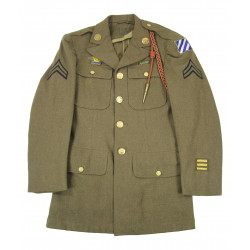 Coat, Wool, Serge, OD, Corporal Dominic Romano, 3rd Infantry Division, ETO