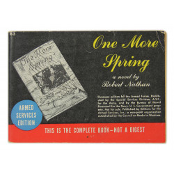 Novel, US Army, One More Spring, 1933