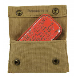 Pouch, First Aid, M-1910, Powers, 1918, with First Aid Packet