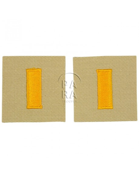 Rank insignia, cloth, 2nd lieutenant