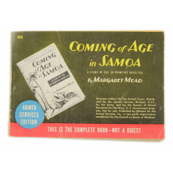 Novel, US Army, Coming of Age in Samoa, 1928