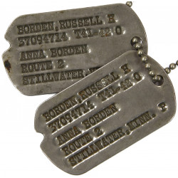 Dog Tags, Cpl. Russell H. Borden