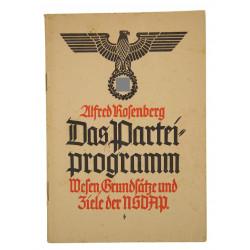 Booklet, Das Parteiprogramm - Wesen, Grundsätze und Ziele der NSDAP, 1940