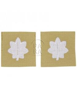 Paire de grades en tissu de lieutenant-colonel