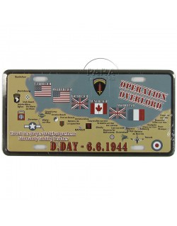 D-Day 6.6.1944 postal plaque