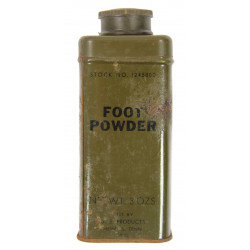 Tin, Powder, Foot, Stock No. 1245800, 3 Oz.