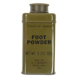 Tin, Powder, Foot, Stock No. 1245800, 2 1/2 Oz.