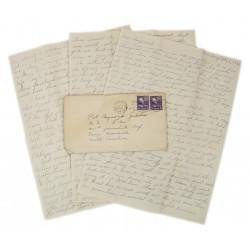 Letter, Pvt. Ray Geddes, Camp Mackall, 501st PIR, 1943