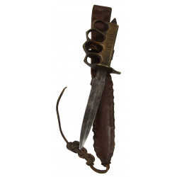 Knife, Trench, M-1918, Au Lion + Theater-made Leather Sheath
