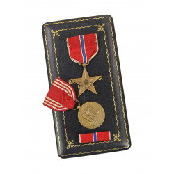 Medals, Bronze Star & Good Conduct, in Box, Named