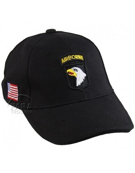 Casquette 101e Airborne, noire