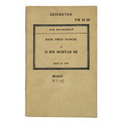 Manual, Field, FM 23-90, 81 mm Mortar M1, 1943, Named