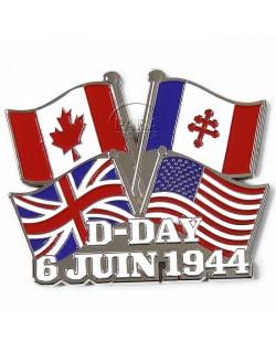 Magnet D-Day drapeaux, métal