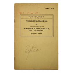 Technical Manual TM 9-1215, Thompson Submachine Gun, M1928A1, 1942