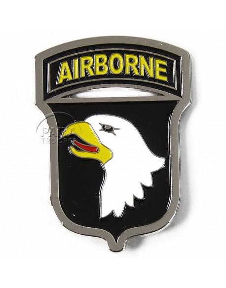 Magnet 101e Airborne, métal, blason