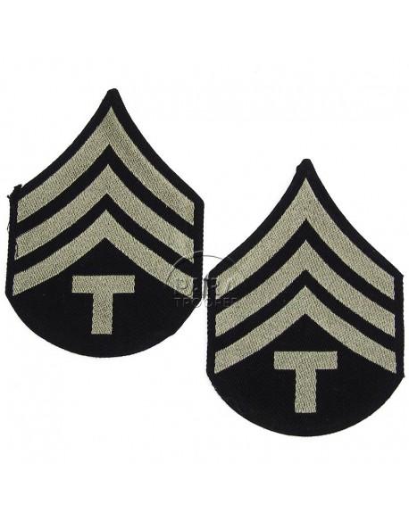 Grades en tissu de Sergeant T/4