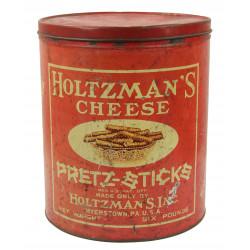 Box, Tin, Pretz-sticks, Holtzman's Inc., 6 Pounds