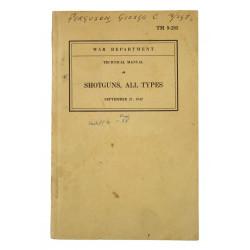 Manual, Technical, TM 9-285, Shotguns, 1942, Named
