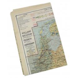 Map, Silk, Escape, C/D, 1943