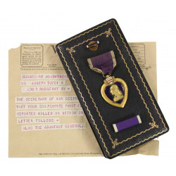 Medal, Purple Heart, in Box, Pfc. Rocco Tucci, E Co., 325th Glider Inf. Regt., 82nd Airborne Division