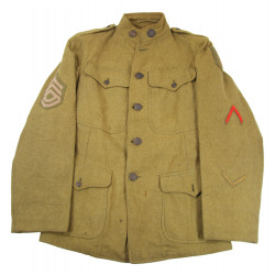 Tunic, US Army, 1916, T/Sgt, Artillery, 1st Infantry Division, WWI