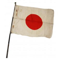Drapeau japonais, manche télescopique, Hinomaru