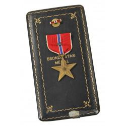 Coffret médaille, Bronze Star avec feuille de chêne