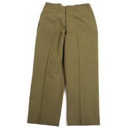 Trousers, Wool, Serge, OD, Size 33 x 31, 1942, Named