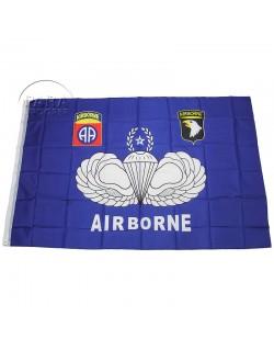 Drapeau airborne, bleu