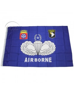 Flag, US airborne, blue