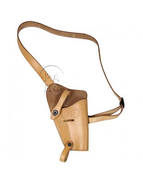 Holster de poitrine M-3 pour Colt .45, fauve
