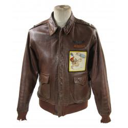 Jacket, Leather, A-2, 1st Lt. M. Alkema, 492nd BS, 7th BG, 10th Air Force, CBI