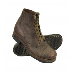 Shoes, Combat, Roughouts, Cap, Toe, US Army Type III, 1943
