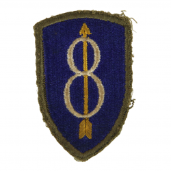 Patch, 8th Infantry Division, OD Border, Green Back, 1943