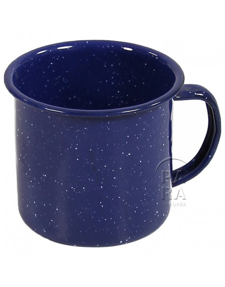 Cup, Enameled metal, blue