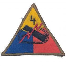 Patch, 4th Armored Division, Embroidered on Felt