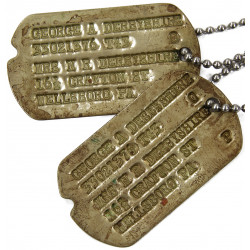 Dog Tags, 1st Type, Monel, George Derbyshire, 1943, MTO