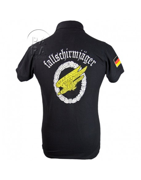 Polo, black, Fallschirmjager