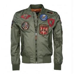 Jacket, Bomber, OD, Adult, US, Top Gun